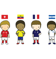 FIFA 2014 Football Players Group E vector image