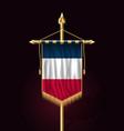 flag of france festive vertical banner wall vector image