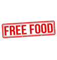 free food grunge rubber stamp vector image vector image
