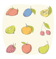 Fruit sketch vector image