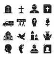 funeral burial icon vector image vector image