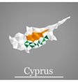 Geometric map of Cyprus vector image vector image