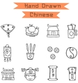 Hand draw Chinese icons vector image vector image