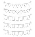 Hand Drawn Bunting vector image vector image