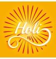 Indian color festival Holi vector image