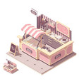isometric ice cream kiosk vector image