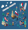 Journey People Isometric Template vector image vector image