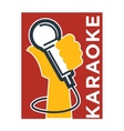 Karaoke club and bar label or logotype vector image vector image