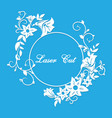 laser cut floral ornament vector image