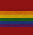 lgbt pride flag on grunge canvas texture vector image