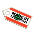 Made in Lebanon vector image