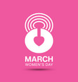 march 8 womens day typographic on pink background vector image
