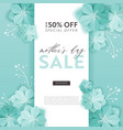 mothers day sale design spring discount banner vector image vector image