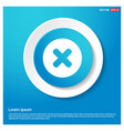 multiply icon abstract blue web sticker button vector image