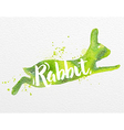 Painted animals rabbit vector image vector image