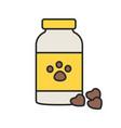 pet medicine color icon vector image vector image