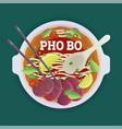 pho bo tradidion vietnamese soup vector image vector image