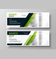 professional green business banner layout template vector image
