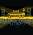 rap concert performance limousin on stage man vector image