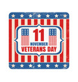 retro emblem for american veterans day vector image vector image
