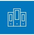 Row of folders line icon vector image