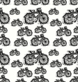 seamless pattern of sketch bicycle vector image vector image