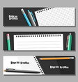 set horizontal banners vector image