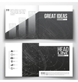 Set of annual report business templates for vector image