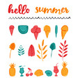 set summer icons any purpose elements brush vector image vector image