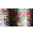 set wave flags all countries vector image