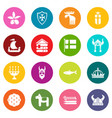sweden travel icons set colorful circles vector image vector image