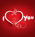 Valentines day background and i love you vector image