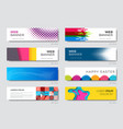 various web banners design template set vector image
