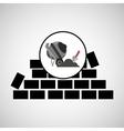 wall brick concrete mixer design vector image vector image