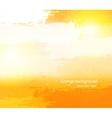 Abstract grunge orange background vector image