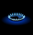 blue flame of gas vector image