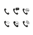 set of handset of icons vector image