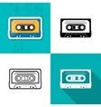 music cassette tape icon vector image