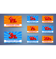 Design discount cards vector image
