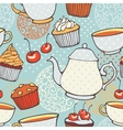 Tea time hand drawn seamless pattern Decorative vector image