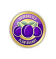 10 years old plum brandy distillate badge on vector image