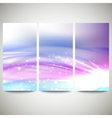 Abstract blue banners set wave design vector image vector image
