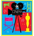 Abstract cinema poster vector image vector image