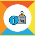 airport reception icon colored line symbol vector image
