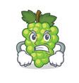 angry green grapes mascot cartoon vector image vector image