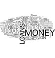 are loans right for you text word cloud concept vector image vector image