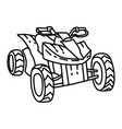 atv beach icon doodle hand drawn or outline icon vector image vector image