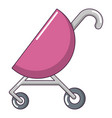 baby carriage pink icon cartoon style vector image vector image