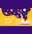 back to school banner template for sale page vector image vector image
