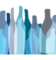 Background Bottle abstract vector image vector image